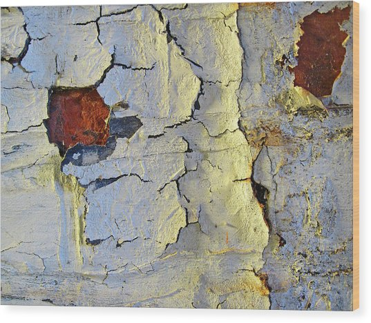 Wall Abstract 4 Wood Print by Mary Bedy