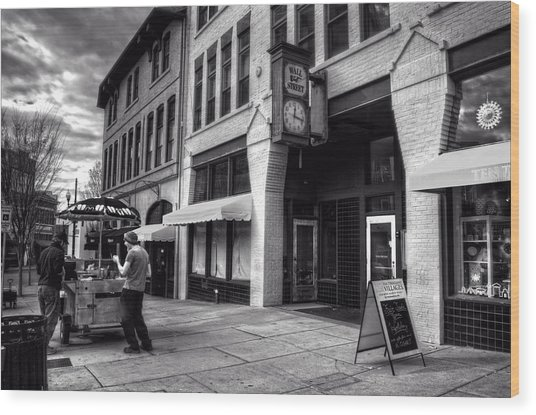 Wall Street Hot Dogs In Asheville Nc Wood Print