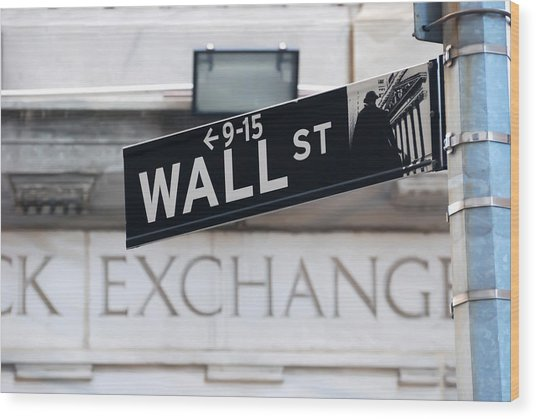 Wall Street New York Stock Exchange Wood Print