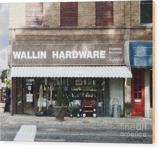 Wallin Hardware Wood Print