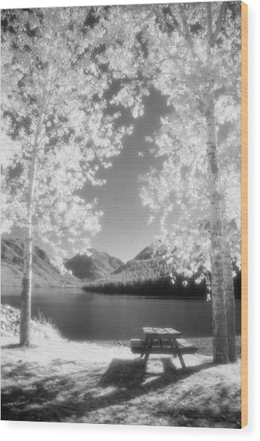 Wallowa Lake Infrared Wood Print