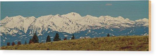Wallowa Mountains Oregon Wood Print