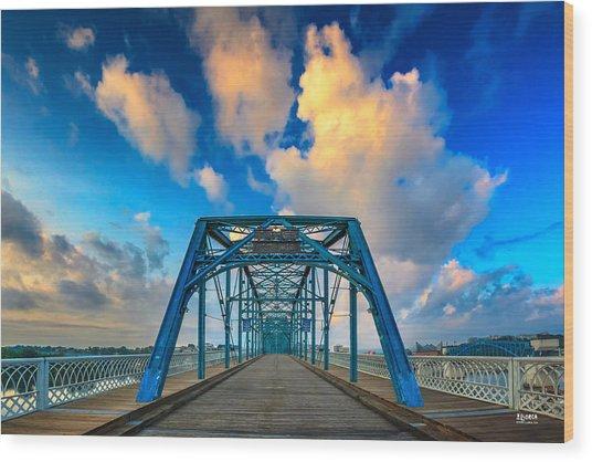 Walnut Street Walking Bridge Wood Print
