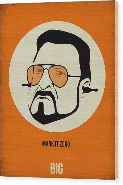 Walter Sobchak Poster Wood Print