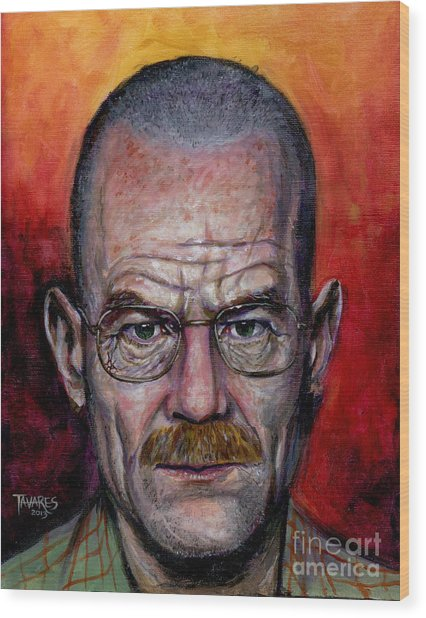 Walter White Wood Print