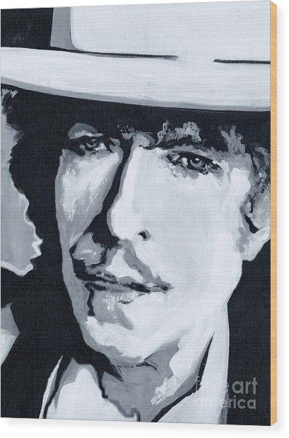 Wandering Troubadour - Bob Dylan Wood Print