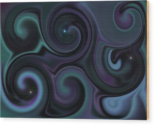 wandering Universe Wood Print by Ricky Haug