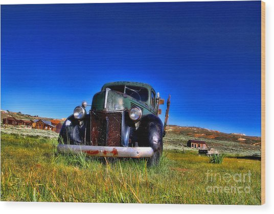 Wanna Ride - Bodie Ghost Town By Diana Sainz Wood Print