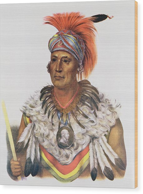 Wapella Or The Prince Chief Of The Foxes, 1837, Illustration From The Indian Tribes Of North Wood Print
