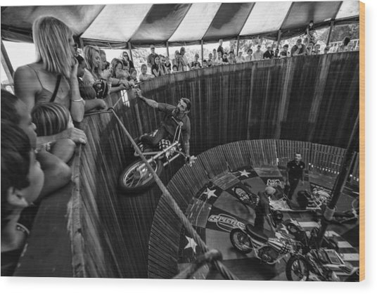 Wall Of Death Wood Print