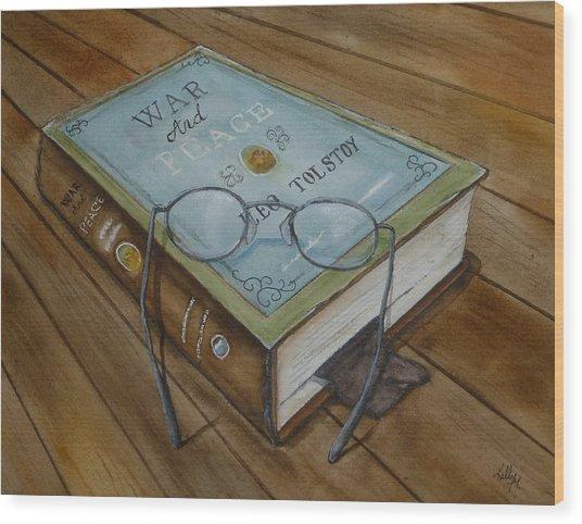 War And Peace Novel Wood Print