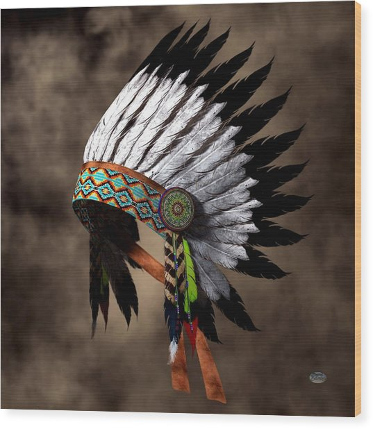 War Bonnet Wood Print