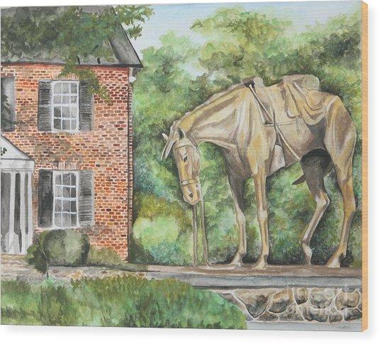 War Horse Memorial Wood Print