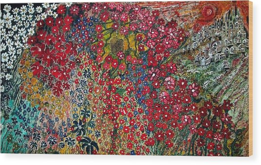 War Of Flowers Wood Print by Matthew  James