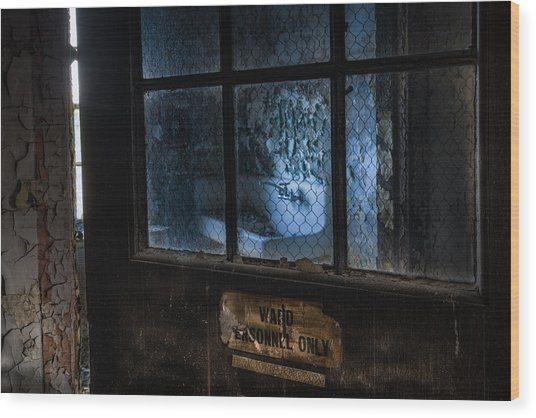 Wood Print featuring the photograph Ward Personnel Only by Gary Heller