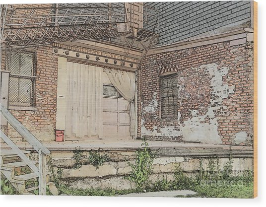 Warehouse Dock Wood Print