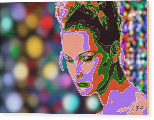 Warhol Style Portrait Wood Print