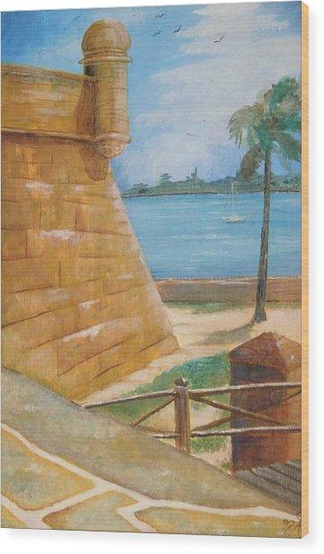 Warm Days In St. Augustine Wood Print