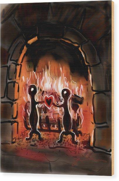 Warm Hearted Wood Print