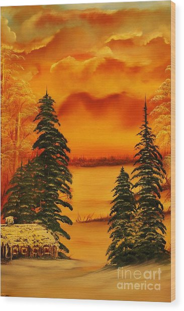 Warm Snow-original Sold- Buy Giclee Print Nr 34 Of Limited Edition Of 40 Prints  Wood Print
