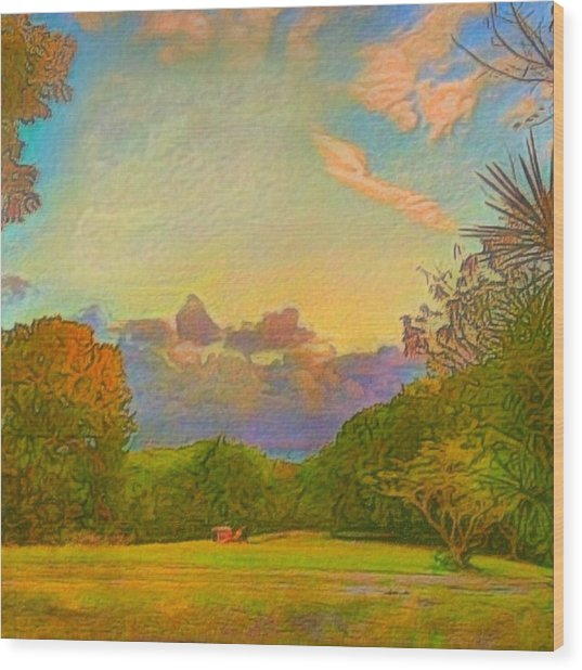 Warm View Of South Shore  - Square Wood Print