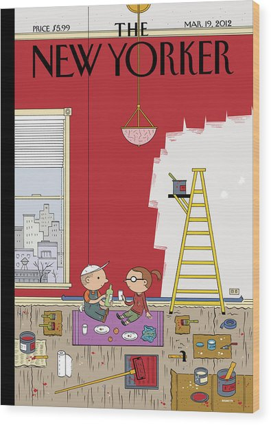 Warmth Wood Print by Ivan Brunetti