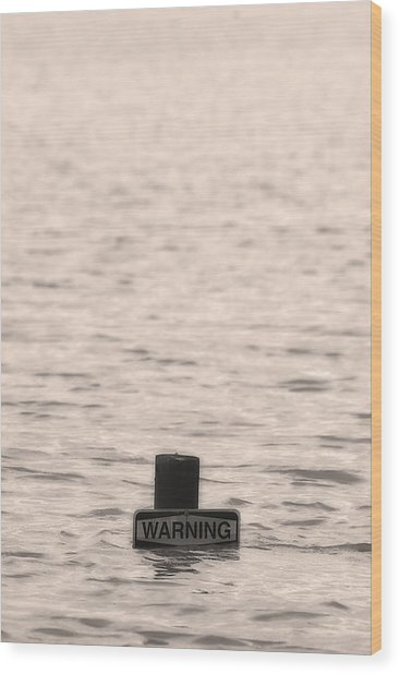 Warning Midwest Floods Wood Print