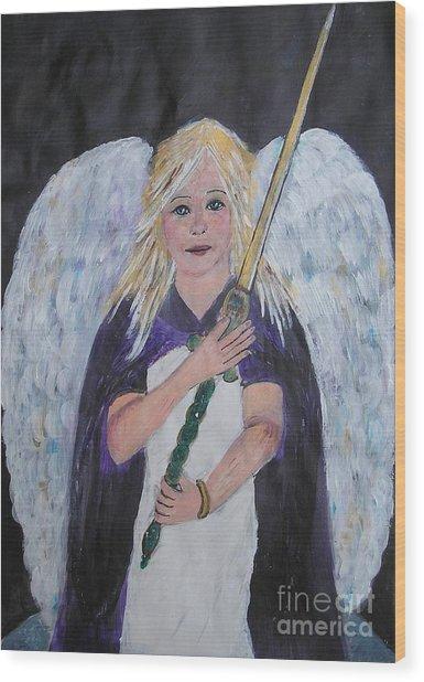 Warrior Angel Wood Print