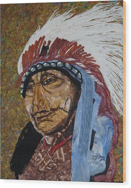 Warrior Chief Wood Print