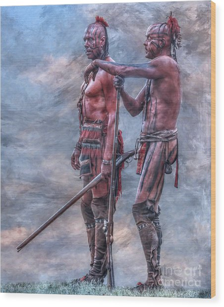 Warriors Wood Print