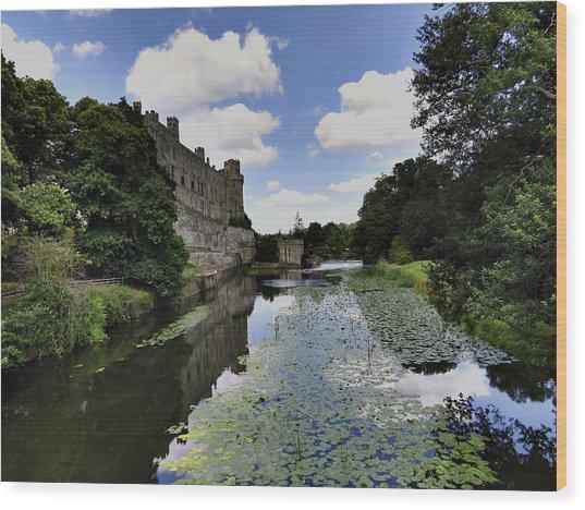 Warwick Castle Wood Print