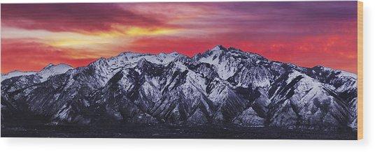 Wasatch Sunrise 3x1 Wood Print