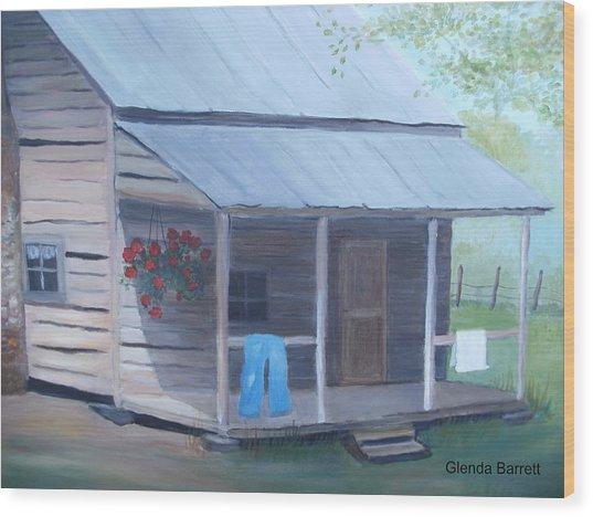 Wash Day Wood Print by Glenda Barrett