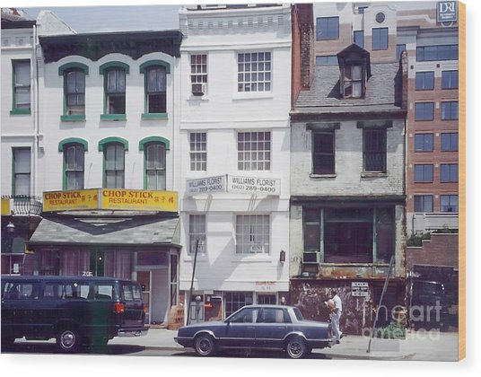Washington Chinatown In The 1980s Wood Print