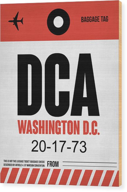 Washington D.c. Airport Poster 1 Wood Print