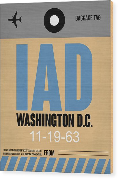 Washington D.c. Airport Poster 3 Wood Print