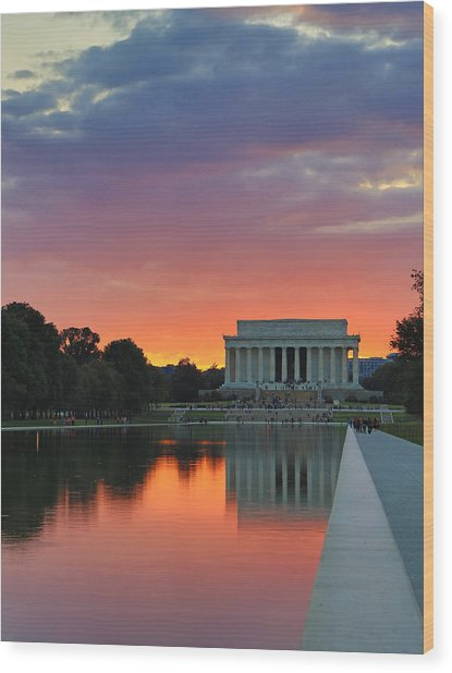 Washington Dc Night Wood Print by Jack Nevitt