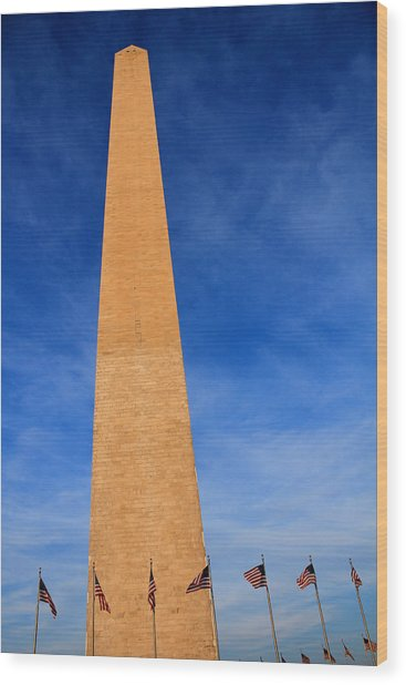 Washington Monument Wood Print by DustyFootPhotography