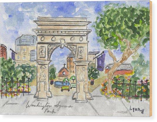 Washington Square Park Wood Print