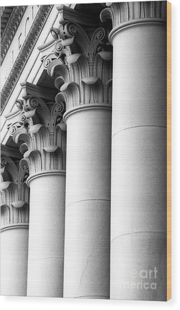 Washington State Capitol Columns Wood Print