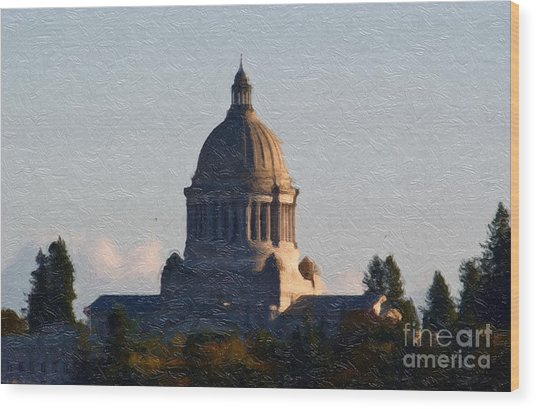 Washington State Capitol II Wood Print