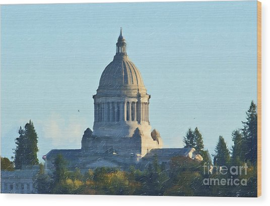 Washington State Capitol Wood Print