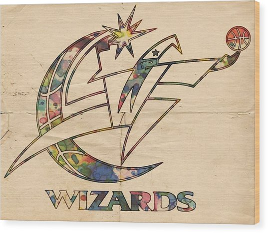 Washington Wizards Poster Art Wood Print
