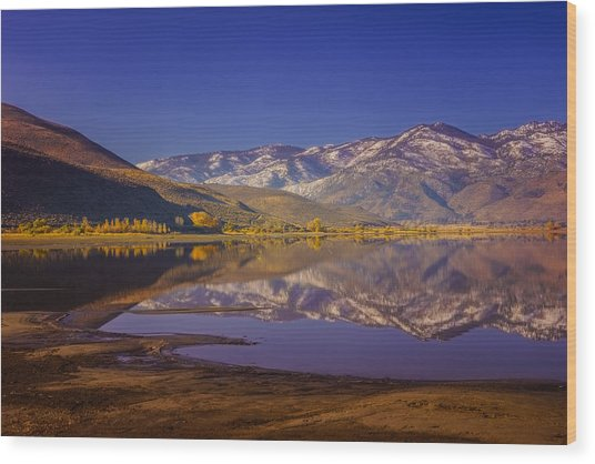 Washoe Lake In Late Fall Wood Print