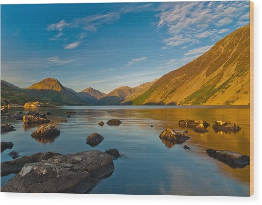 Wast Water Lake District Wood Print by David Ross