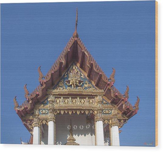 Wat Amarintaram Ubosot Gable Dthb1509 Wood Print