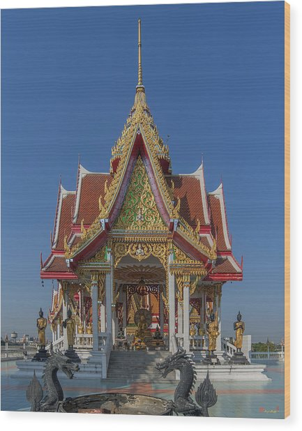 Wat Bukkhalo Central Roof-top Pavilion Dthb1809 Wood Print