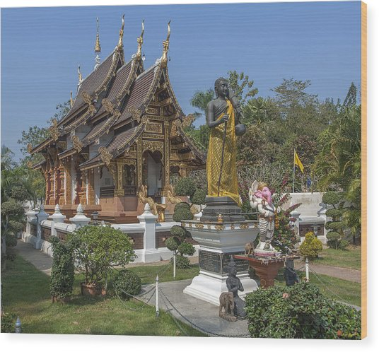 Wat Chedi Liem Phra Ubosot Dthcm0831 Wood Print