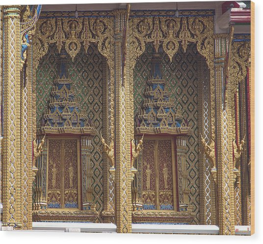 Wat Thung Setthi Ubosot Window Dthb1550 Wood Print