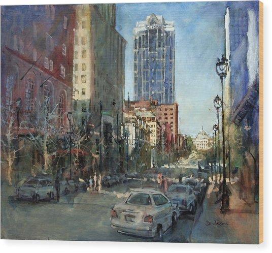 Watch Over Fayetteville Street Wood Print